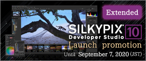 SILKYPIX Developer Studio 10 Launch promotion