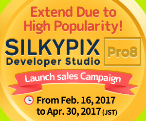 SILKYPIX Developer Studio Pro8 Launch Sales Campaign