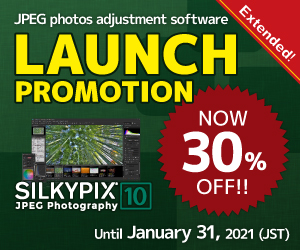 SILKYPIX JEPG Photography 10 Launch promotion