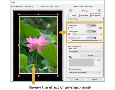 Review the effect of un-sharp mask