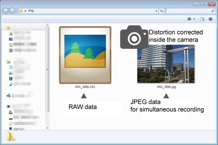 What is Automatic distortion correction using JPEG?
