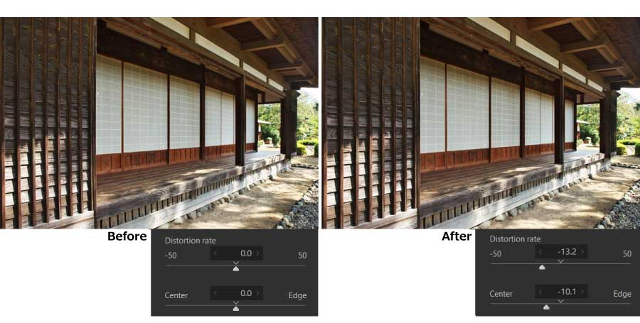 Automatic distortion correction using JPEG 1-1