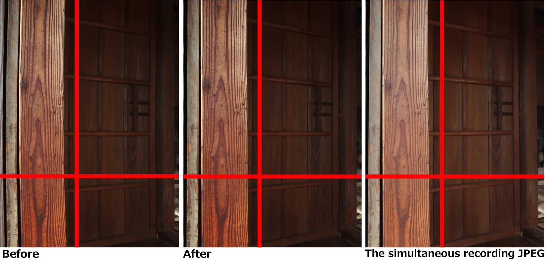 Automatic distortion correction using JPEG 2-2