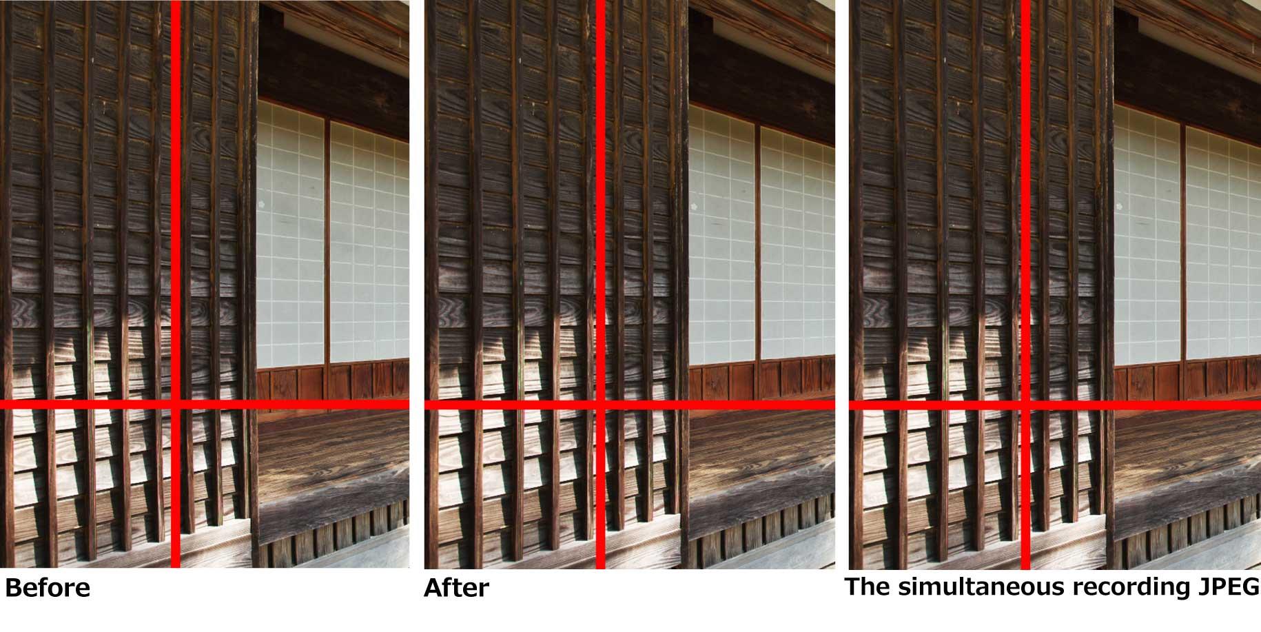 Automatic distortion correction using JPEG 1-2