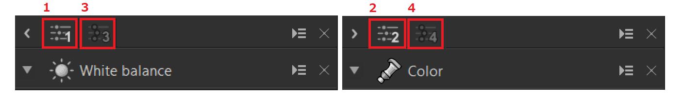 Control palette 1-2