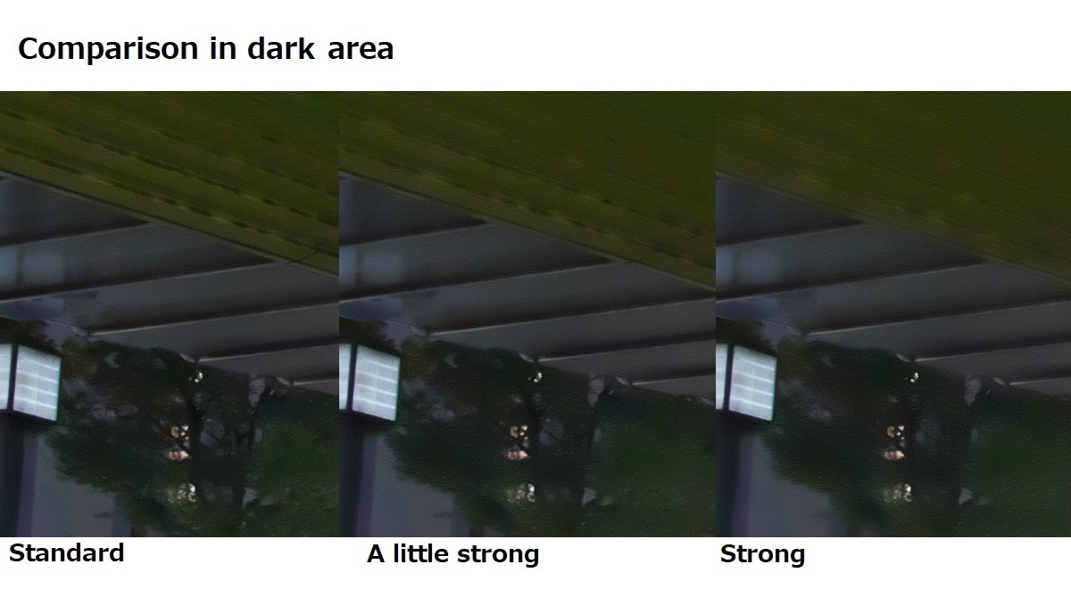Level of shadow noise reduction 4-2