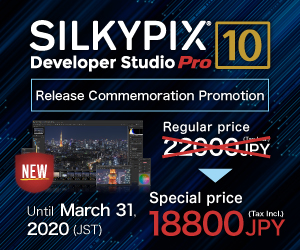 SILKYPIX Developer Studio Pro10 Release commemoration promotion!