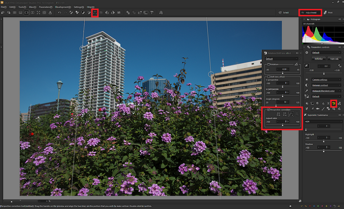 The Perspective correction tool_2