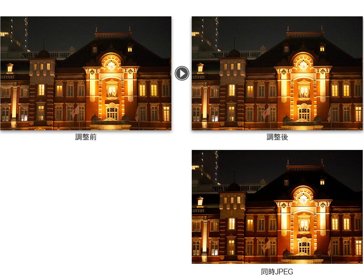 JPEGを用いた自動ディストーションによる調整例