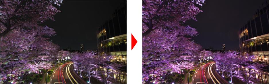 ホワイトバランスで桜を綺麗に仕上げる