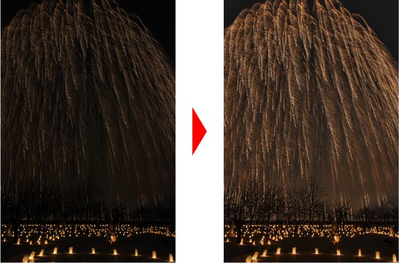 花火の調整例 比較