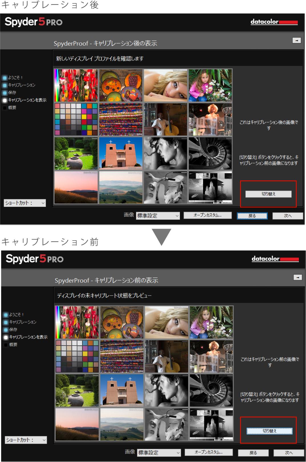 Spyder5キャリブレーション結果