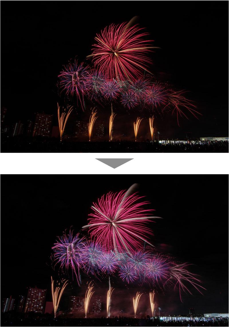 花火のRAW現像方法 作例